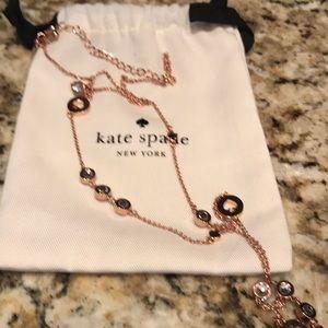 NWOT Kate Spade rose gold necklace